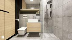 PORTFOLIO - Mała łazienka w bloku bez okna, styl skandynawski - zdjęcie od PEKA STUDIO