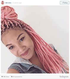 16 Stunning Photos of Colored Box Braids, the Summer Protective Style Trend Taking Over Instagram