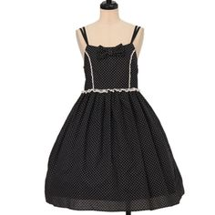 Worldwide shipping available ♪ Emily Temple cute ☆ ·. . · ° ☆ dot double strap dress https://www.wunderwelt.jp/en/products/w-17377  IOS application ☆ Alice Holic ☆ release Japanese: https://aliceholic.com/ English: http://en.aliceholic.com/