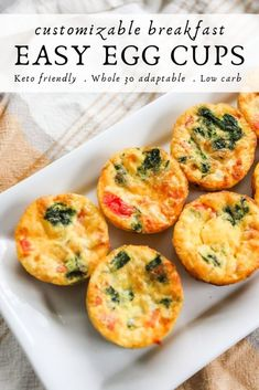 Easy Egg Cups For A Customizable Breakfast - Fast Recipes Breakfast Cups, Breakfast Recipes, Breakfast Quiche, Easy Brunch Recipes, Breakfast Ideas, Easy Egg Breakfast, Breakfast Crockpot, Breakfast Burritos, Brunch Ideas