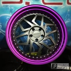 Prismatic Powders - Illusion Purple And Matt Black On These Damnraw Forged 3 Pieces Wheels Rims For Cars, Rims And Tires, Power Coating, Forged Wheels, Pinstriping, Giza, Future Car, Alloy Wheel, My Ride