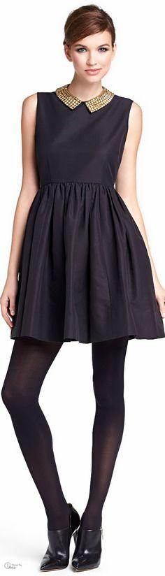 Kate Spade -  Black Holiday Mini-dress | @ The House of Beccaria