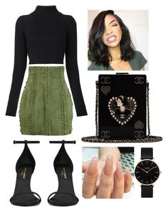 """Ava."" by vcvintage on Polyvore featuring Balmain, Yves Saint Laurent, Chanel and CLUSE"