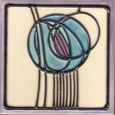 This tile, very reminiscent of a Charles Rennie and Margaret Mackintosh design