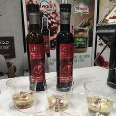 Al Wadi Al Akhdar  #pomegranatemolasses tasting at the Fancy Food Show 2015 #SFFS15 #NewYork! If you're in New York join us and @sahadis team to check the authentic range of #specialtyfoods!  #Alwadi #alwadialakhdar #lebanesefoodporn #lebanese #lebanesecuisine #NYCfood #brooklyn #brooklynfood #nyc #lebanesefoodnyc #lebanesefoodworldwide #MiddleEastern #middleeasternfood #pomegranatemolasses #hummus #hommos #babaghannouge #babaghanouj #halawa #tahina #tahini #thelebanesefoodies #fancyfoodshow Lebanese Cuisine, Lebanese Recipes, Pomegranate Molasses, Pomegranate Juice, Brooklyn Food, Specialty Foods, Food Shows, Middle Eastern Recipes, Savoury Dishes