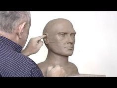 Proportions of the face and head. Sculpting a head in clay. Basic facial proportions. - YouTube