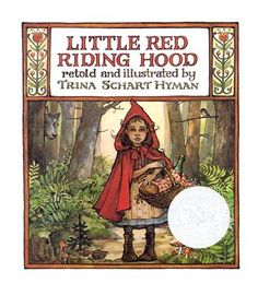 "Traditional book. A girl goes through the woods alone to visit her grandmother. Kindergarten-3rd grade. Activity idea: students create their ""Red Riding Hoods"" with any color they would like."