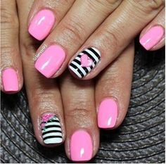 Striped nail art is chic and everywhere for Summer.