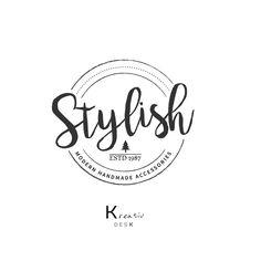 Boutique Logo. Shop Logo. Branding Boutique Logo. Branding Watermark Logo. Circle Logo. Stamp Logo. Badge Logo. PSD Template. Premade Logo by KreativDesk on Etsy
