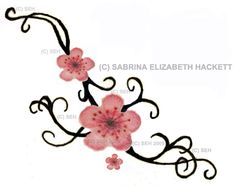 cherry blossom tattoo for ankle, maybe someday...