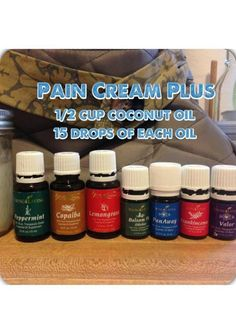 Pain Cream Plus  Just found this graphic this morning shared in The Drop Talk Lounge by Stephanie Brown Vaughn-------she said the usual pain cream recipe was too weak for her. This recipe has some powerful hitters in it for inflammation & pain issues so would be worth a try for those with heavy pain where they haven't found the right oils just yet for their pain.