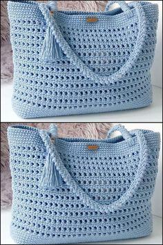 (Video) Tap the image to learn crochet pas . - (Vídeo) Toque na imagem para aprender crochê pas… – (Video) Tap the image to learn crochet pas … – - Bag Crochet, Crochet Purse Patterns, Crochet Handbags, Crochet Purses, Sewing Patterns Free, Crochet Clothes, Free Crochet, Knitting Patterns, Crochet Summer