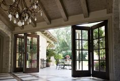 Accordian French doors
