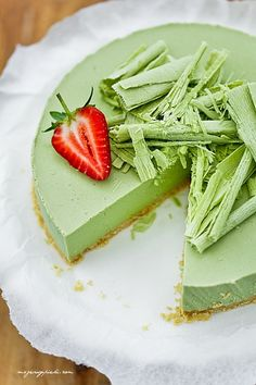 Lime Cheesecake - matcha