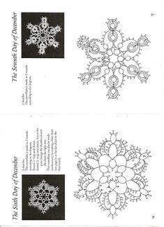 Chiacchierino schemi - Tatting free pattern - frivolitè - gratis - qualcosadime - Christmas snowflakes -