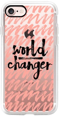 Casetify iPhone 7 Classic Grip Case - World Changer Coral by Jande Laulu #Casetify