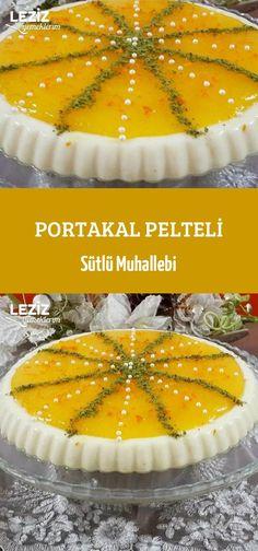 Portakal Pelteli Sütlü Muhallebi