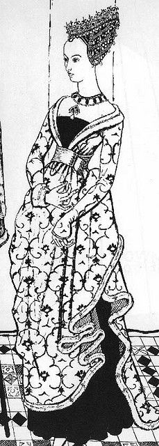 Love this dress!! Patterned Burgundian Here's an idea, how about doing it in black and white, like the picture. Cool.
