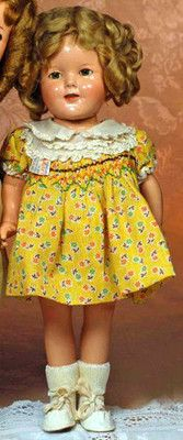 """Vintage Ideal Shirley Temple 16"""" compo Captain January smocked"""