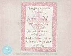 Christening Invitation by InviteMe2Party on Etsy, $12.00