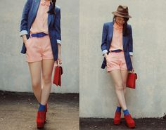 Pink and blue in Autumn (by Shan  Shan) http://lookbook.nu/look/2530083-pink-and-blue-in-Autumn