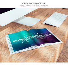 Abrir el libro maqueta Psd Gratis