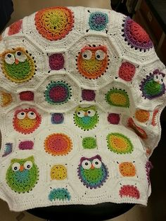 Ravelry: crochets-alot's Olivia's Owl blanket.  Inspiration for a future project.