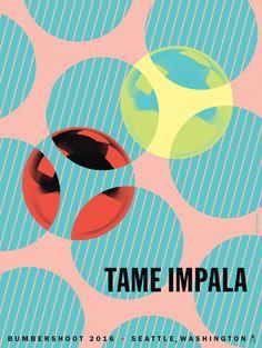 Tame Impala - 2016 Bumbershoot, Seattle Gig Poster