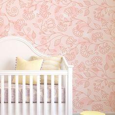 Papel de parede adesivo floral - StickDecor | Decoração Criativa