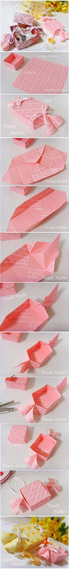 origami tutorial caixa de presente