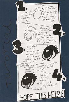 deviantART: More Like Chibi Eye tutorial by ~CatQueen48