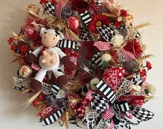 Christmas Wreaths for Front Door, Nordic Gnome, Christmas Mantel - Season Christmas Wreaths For Front Door, Christmas Mantels, Holiday Wreaths, Christmas Door, Outdoor Wreaths, Outdoor Christmas Decorations, Holiday Decor, Different Kinds Of Flowers, Mother Christmas Gifts