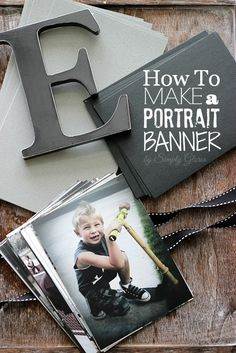 How To Make A Portrait #Banner with SimplyGloria.com @Simply Gloria