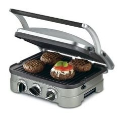 Looking for an indoor grill? Check out the Cuisinart Griddler, which is part countertop grill, part indoor grill and part panini press. #cuisinart #grills