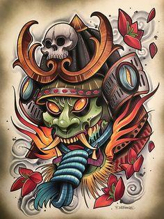 japanese tattoos for men Japan Tattoo Design, Japanese Tattoo Designs, Japanese Tattoo Art, Japanese Sleeve Tattoos, Oni Mask Tattoo, Hanya Tattoo, Tattoo Arm, Neue Tattoos, Body Art Tattoos