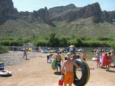 Salt River Tubing in Mesa, AZ - Loved to do this on the weekends while living there.