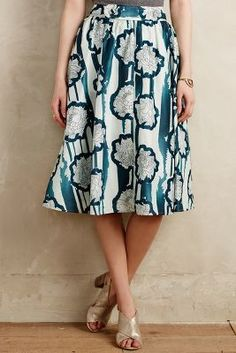 Anthropologie Waterlily Skirt #anthrofave