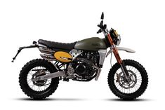 Fantic Caballero 500 Rally: Off-road Soul, Scrambler Elegance Scrambler Custom, Triumph Scrambler, Scrambler Motorcycle, Custom Motorcycles, Custom Bikes, Homemade Motorcycle, Sr500, Motorcycle Manufacturers, Motorcycle Types