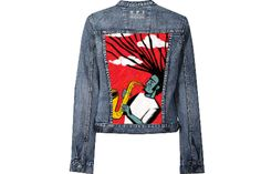 S/0009 Singapore Jacket with Hand Painted Jazz
