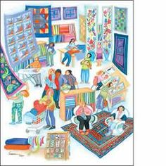The Quilt Shoppe Barbara Lavallee http://www.anniekaills.com/art/lavallee/prints4.htm