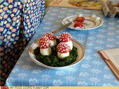 Tomato and mozzarella mushrooms