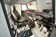During the strip out of the Diesel interior by Ruskin Design
