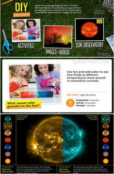 DIY Sun Science is a fantastic app for letting students explore the natural world. This science experiment iPad app is full of activities and information. Science Activities For Kids, Science Lessons, Science Education, Teaching Science, Science Projects, Science Experiments, Kids Education, Kid Science, Learning Apps
