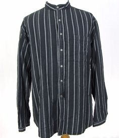 Scully Shirt XL Western Big Striped Sheriff Star Badge Button Banded Collar C16 #Scully #Western
