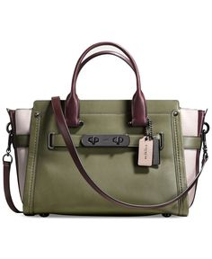 51fb015a7a COACH Swagger in Colorblock Leather Handbags   Accessories - Macy s