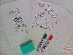 Połącz kropki #połączkropki #baranekwielkanocny #zajączekwielkanocny #pisanka #connectthedots #easteregg #easterlamb #easterrabbit #grafomotoryka #plakatówka Notebook, Bullet Journal, The Notebook, Exercise Book, Notebooks