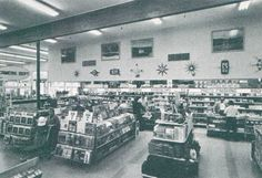 In the early several leading supermarket chains began a concerted effort to augment their traditionally razor-thin grocery margins b. S Stories, Grocery Store, Vintage Photos, Country, Shopping, Retro, Recovery, Mall, Period