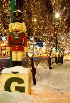 Christmas Lights on Main Street, Cedar City, Utah. I've never seen Main so beautifully decorated for Christmas!