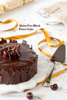 Gluten Free Black Forest Cake recipe #glutenfree via Delicieux | www.ledelicieux.com