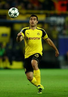 Sokratis Papastathopoulos of Borussia Dortmund in action during the UEFA Champions League Group F match between Borussia Dortmund and Real Madrid CF at Signal Iduna Park on September 27, 2016 in Dortmund, North Rhine-Westphalia.
